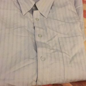 NWT sz xlt blue on blue shirt ss